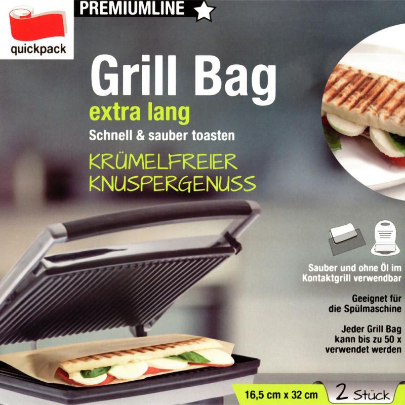 2 x Dauerbackfolie Backpapier Grill Bag Kontaktgrill Toast Taschen Döner Pita