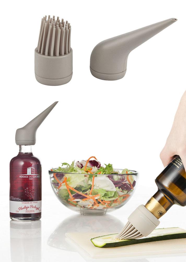 Marinier Set für Grill und BBQ incl. Silikonpinsel und Essig Silikonaufsatz