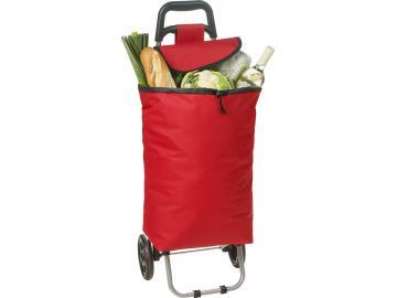 Einkaufstrolley Trolly Einkaufswagen Handwagen Koffer Handgepäck Roller rot