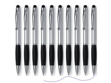 10x Kugelschreiber Touchpen Handy Tablet Smartphone Eingabestift Touch 2in1 Pen