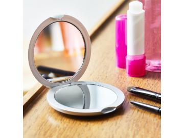 Taschenspiegel Schminkspiegel Kosmetikspiegel Reisespiegel Vergrösserung rund