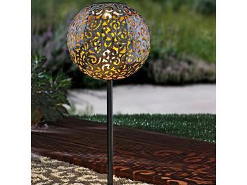 LED Solar Kugel Solarleuchte Steck Leuchte Garten Deko Beleuchtung mit Erdspieß