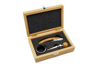 Wein Geschenkset Wein Bambus Holz Geschenkbox Weinbox Wein Sommelier Set
